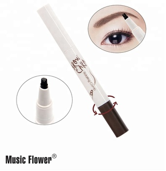 Music flower waterproof Dye cream eyebrow pen