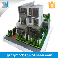 Duplex Villa model for sale with miniature trees, Guangdong scale model maker