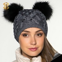 High Quality Plain Knitted Hats Custom Cheap Beanie Caps Winter Hats for Women