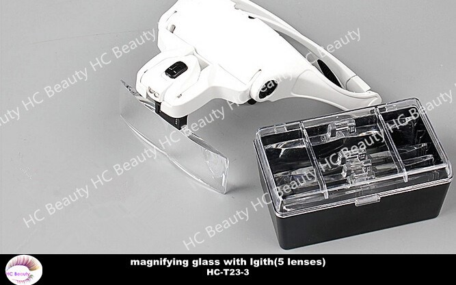 High quality ,new magnifying glasses for eyelash extension with 5 lenses