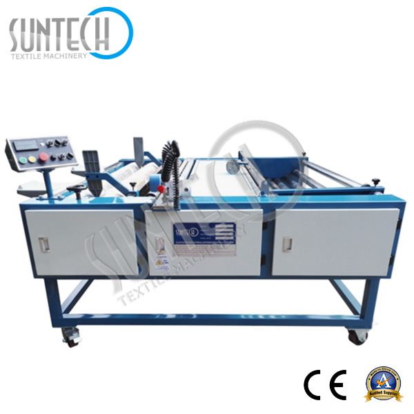 SUNTECH 2016 Hot Selling Compact Structure Fabric Rolling Machine for Fabric Inspection and Length Measuring Machine