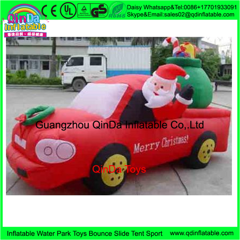 Giant PVC Inflatable Santa Claus ornament,inflatable christmas santa claus for decoration