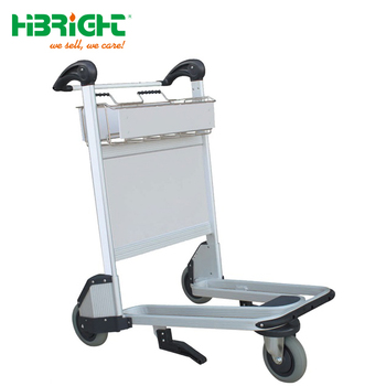 High Quality Aluminum Airport Luggage Trolley with Hand Brake