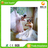 Attractive decoration diamond embroidery kits dancing girl oil painting