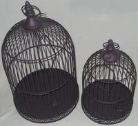 Metal bird cage for garden decorations