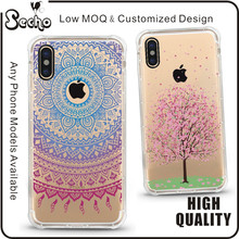White Henna Mandala Floral Lace Clear Design Printed Transparent Protective Phone Cover TPU Case for iPhone 8 7 6 6S Plus 5 SE