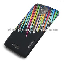 Colorful Meteor Shower Pattern TPU Back Case for HTC One X, For htc one m7 cover case