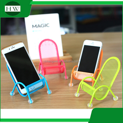 creative colorful chair shape desktop mobile phone stand holder