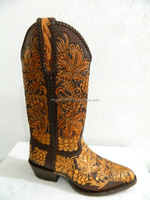 tooled cowboy boot made to order any style from gallery or send picture.