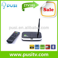 2013 newest smart tv box with built-in webcam with camera and mic