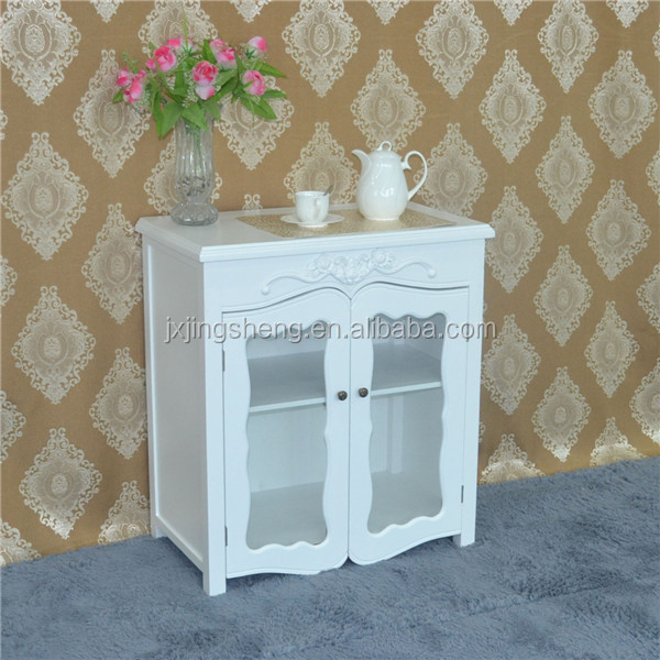 Modern white painted display cabinet french provincial furniture