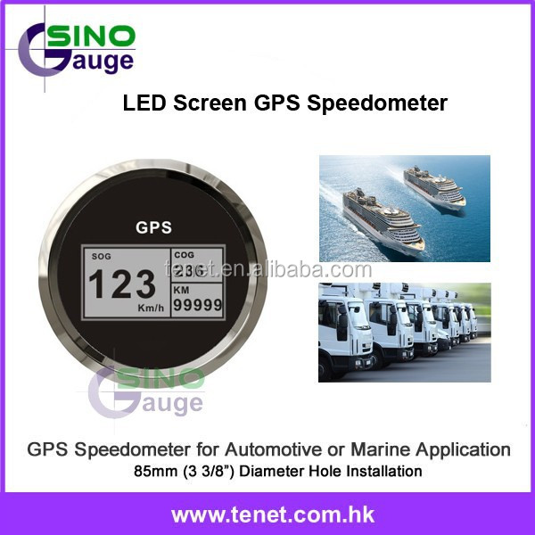 SinoGauge 85mm Hole Size Digital GPS Speedometer