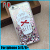 Quicksand Glittering liquid case for iphone 5/SE/6/6 plus, enjoy it before melt plainted hard pc phone case for iphone 6