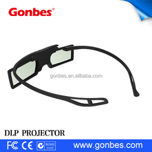 cheap detachable Button Battery active shutter 3d glasses for dlp