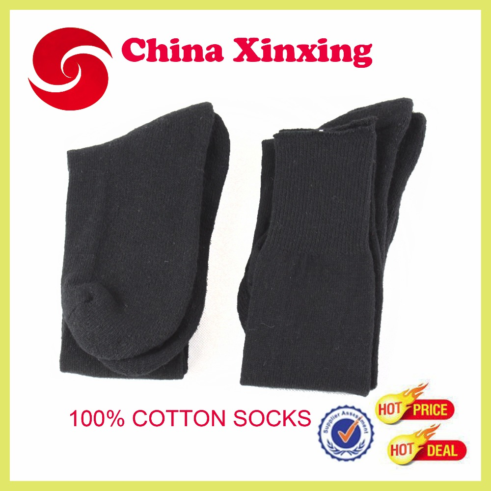wholesale factory supply Hot Military Black Cotton Socks wool socks