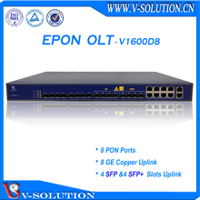 Hot Selling FTTH GEPON 1U 19inch 3 Layer Route 8 SFP or SFP+ and 8GE Uplink 8 Pon Ports 1:64 Splitting Ratio EPON OLT with SNMP