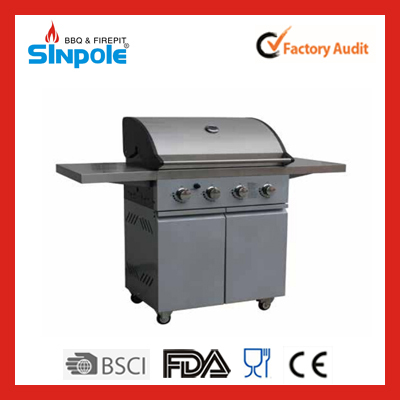 2015 New Patent Sinpole Commercial Gas BBQ Built In