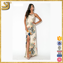 Wholesale custom new designs gorgeous women cotton maxi dress