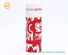 100% Recycled cylinder shape custom kraft paper tube for gift package