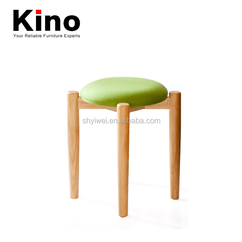 New Simplicity Wooden Fabric Cushion Design Wood Legs Frame upholstered Dining Chair