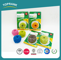 Toprank eco-friendly daily necessicity products colorful scrubber scourer kitchen polyester fiber cleaning ball for dish washing