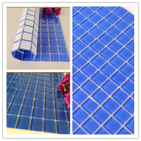 square shape and mixed color swimming pool glass mosaic tile