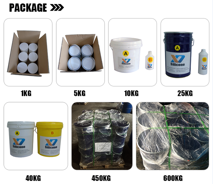 Liquid RTV2 silicone rubber for making or casting molds for gypsum statues plaster molds making