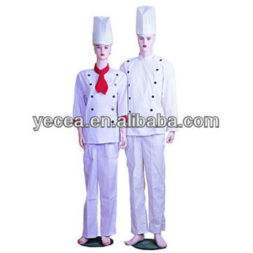 White color Chef unifirm Cap-Coat and Pants