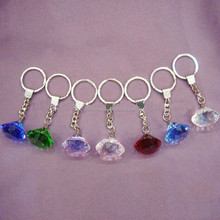 Unusual all color available crystal diamond keyring