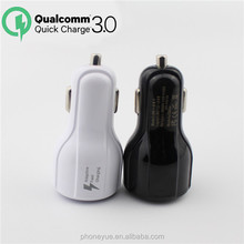 Smart 9V5V12V QC 3.0 Rapid Fast Speed Charging Dual USB Port QC3.0 Car Charger For Samsung