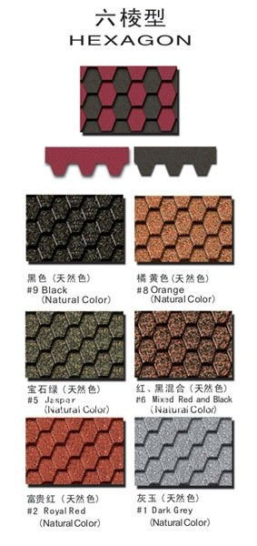 high quality Colored asphalt shingle and asphalt roofing tile
