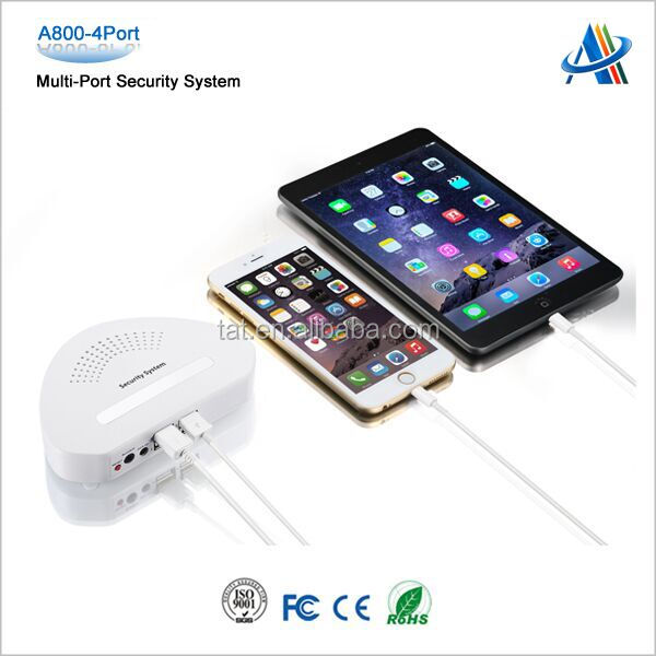 4 port security alarm system for mobile provide security solutions