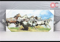Hot Selling Modern Decorative Lenticular Painting 3d Animal Pictures Horse