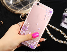 Fashion design customized mobile phone case glitter for iphone 6S case