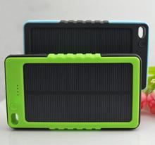 Factory Customized Waterproof Phone Charger 6000mAh Dual USB Solar Power Bank