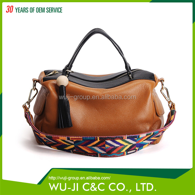 Different Color Full Grain Leather Lady Tote Bag