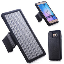 Two Mobile Phone Genuine Leather Running Armband Case For Samsuang Galaxy s6