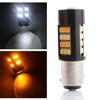 DC 12V yellow color car front/tail light 2835 42smd led brake light BA15S led yellow backup reversing light