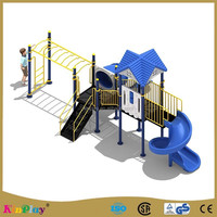 Used Preschool Kids Outdoor Plastic Playground Equipment for Amusement Park Sale
