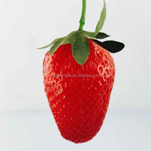 Eco friendly cheap lifelike plastic artificial fruits strawberry for home decoration