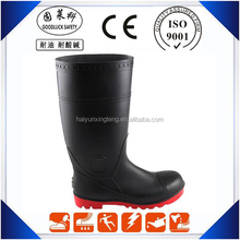 Safety Waterproof Working Boots Polyester Lining PVC Boots