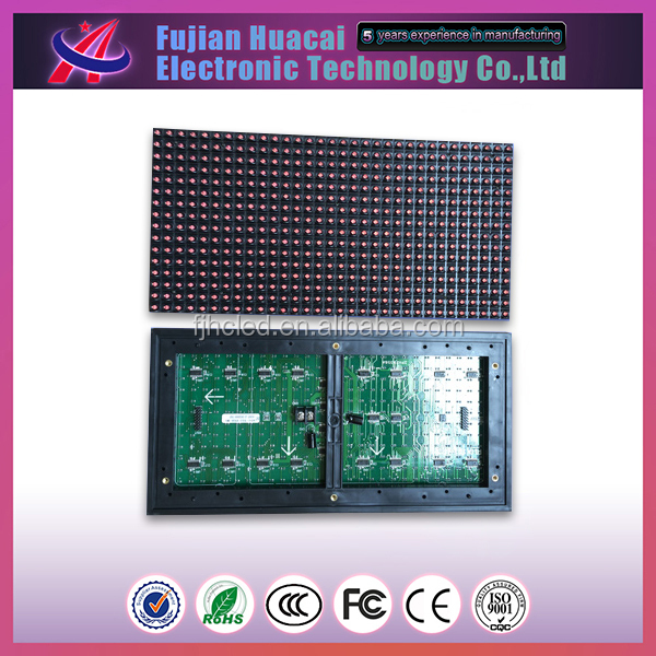 Epistar lamp p10 led module red,32x16 led module p10 red