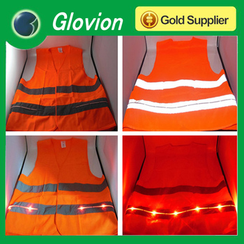New Arrival led light vest reflective safety vest walking reflective vest