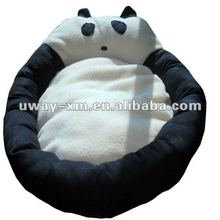 UW-NPB-057 lovely black+white panda design plush pet beds for dogs