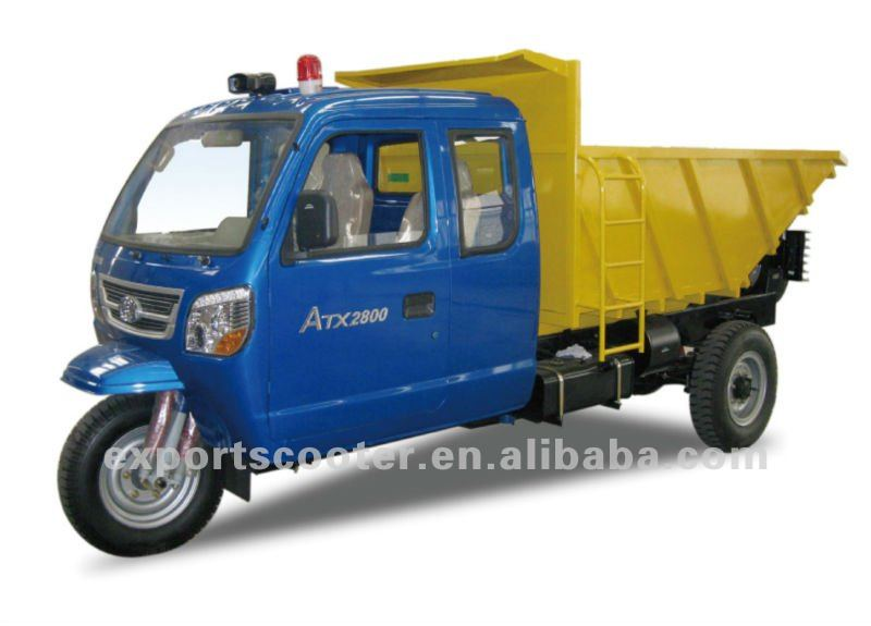 Hot Diesel engine cargo tricycle supplier 3P51400 3 wheel bikes africa