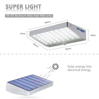 sinohamm Led Solar Powered Pir Motion Sensor Wall Light 48led Garden Security Shed Lamp Bright made in shenzhen