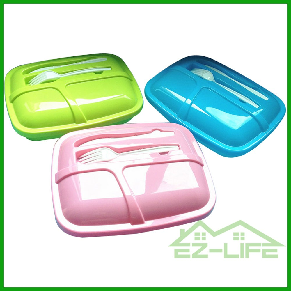 household disposable 3 compartment reusable food storage containers, microwave,dishwasher safe,kids and adualt lunch box