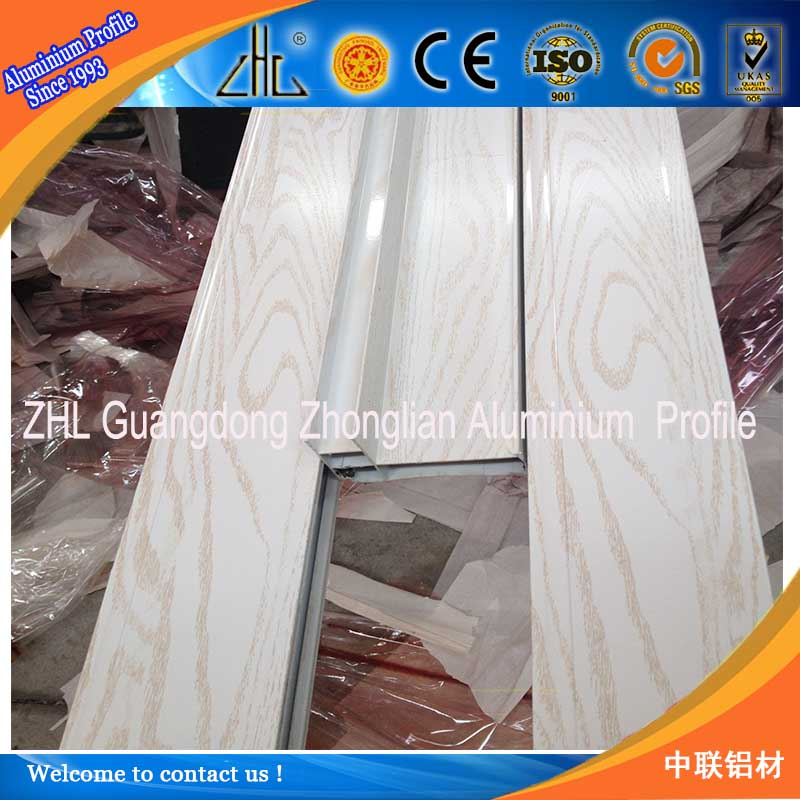 NEW Arrival ! Structural aluminum supplier , Perfect surface finished Oak wood aluminum profile aluminium window frame