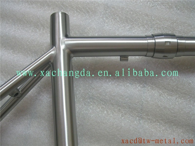 Customed Titanium road bicycle frame coupler made full titanium road bike frame XACD titanium road racing bike frame