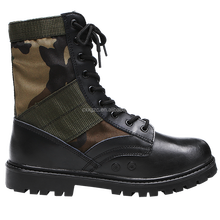 Custom Made Genuine Leather Nylon Canvas Army Combat Military Boots